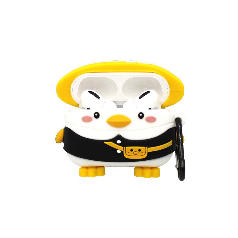 Θήκη Σιλικόνης για AirPods Pro Penguin μαύρο 1