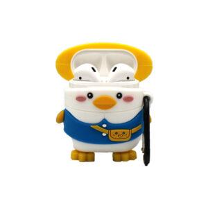 Θήκη Σιλικόνης για Airpods Penguin μπλε 1