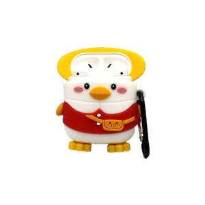 Θήκη Σιλικόνης για Airpods Penguin κόκκινο 1