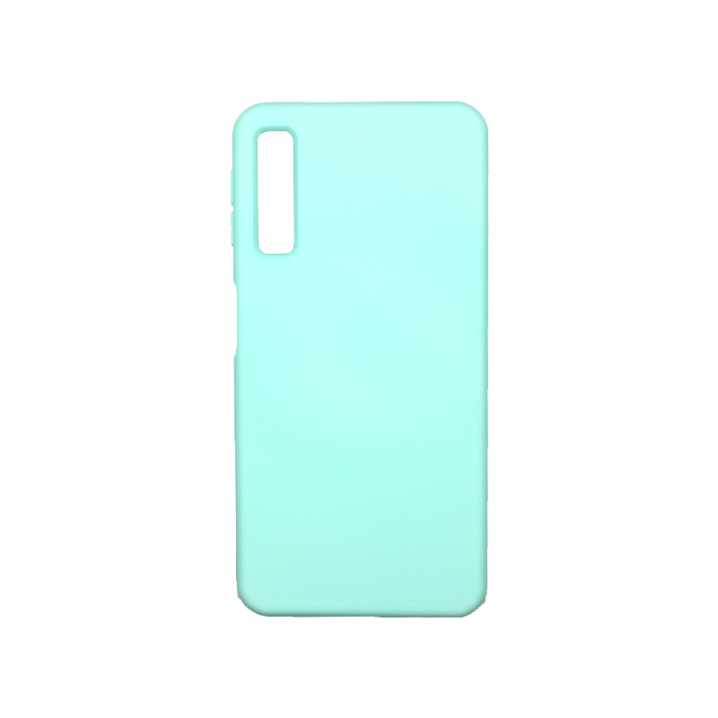 Θήκη Samsung Galaxy A7 2018 Silky and Soft Touch Silicone τιρκουάζ 1