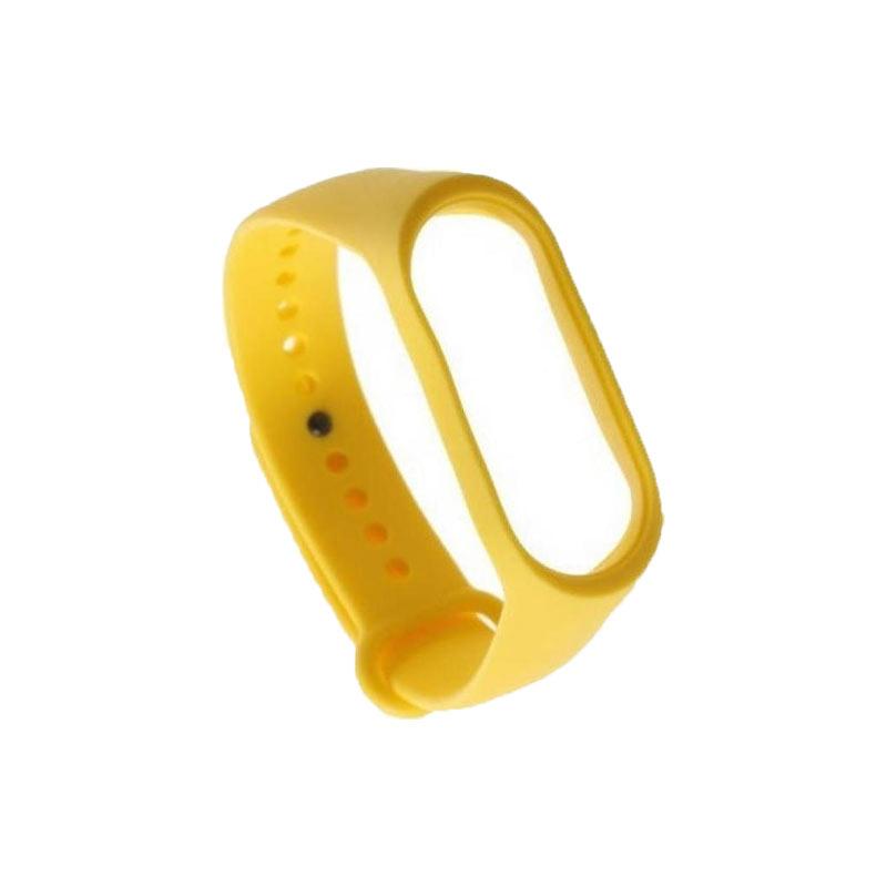Λουράκι Σιλικόνης για Xiaomi Mi Band 3 / 4 κίτρινο 1