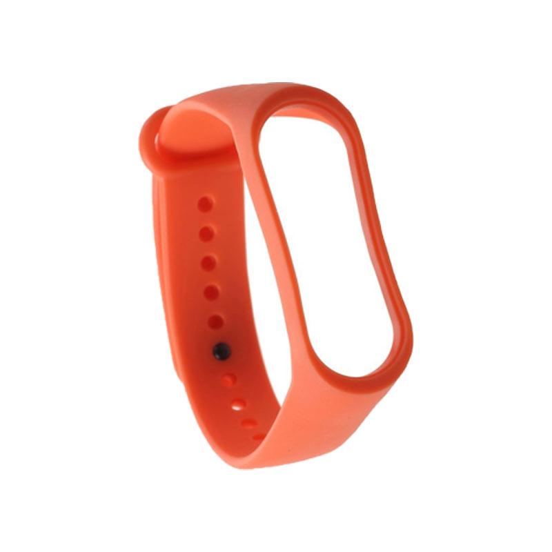 Λουράκι Σιλικόνης για Xiaomi Mi Band 3 / 4 πορτοκαλί 1