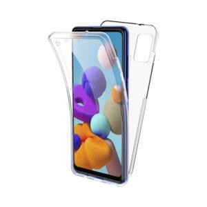 Θήκη 360 Full Cover Σιλικόνης Διάφανο Samsung Galaxy A21s