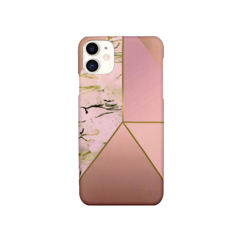 Θήκη iPhone 11 Pro Max Pink Marble Triangles