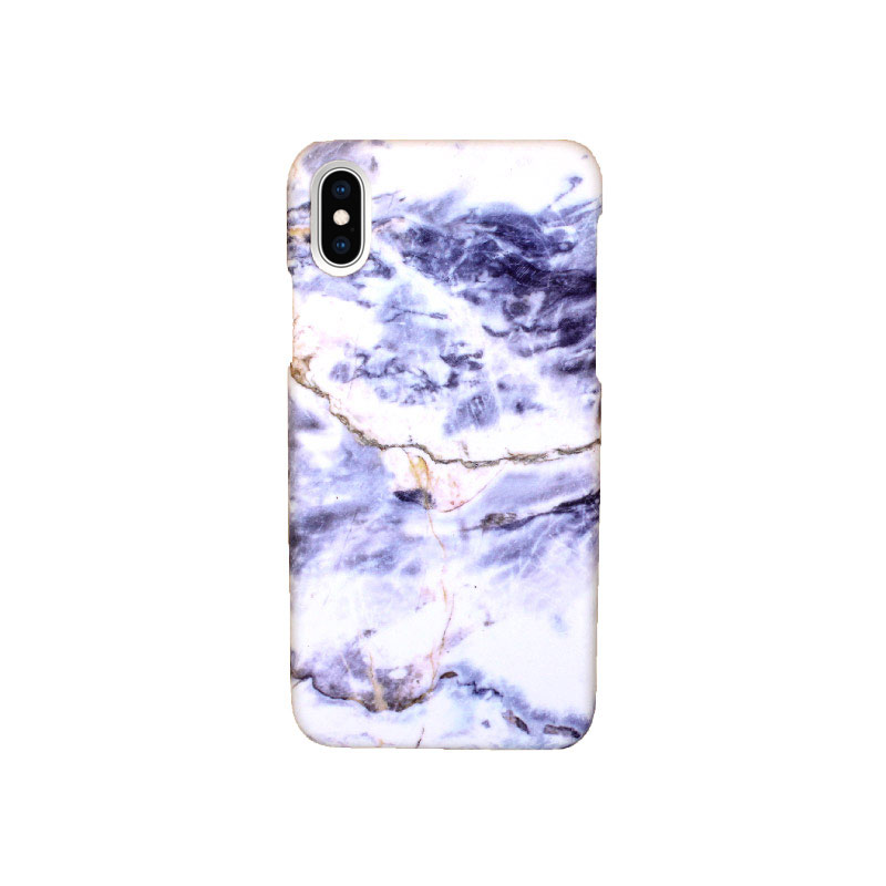 Θήκη iPhone X / XS Purple-White Marble