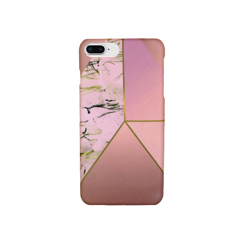 Θήκη iPhone 7 Plus / 8 Plus Pink Marble Triangles