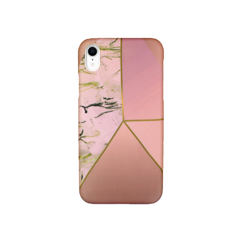 Θήκη iPhone XR Pink Marble Triangles