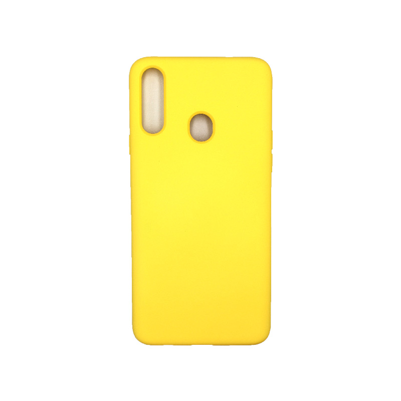 Θήκη Samsung Galaxy A21s Silky and Soft Touch Silicone κίτρινο 1