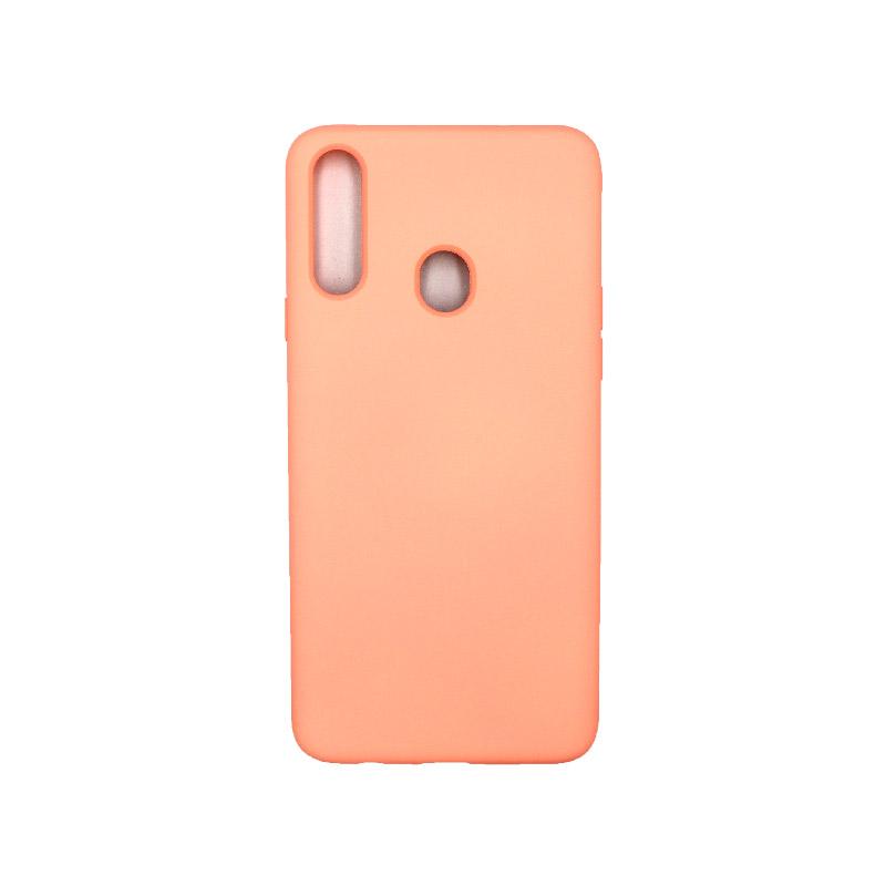 Θήκη Samsung Galaxy A21s Silky and Soft Touch Silicone πορτοκαλί 1