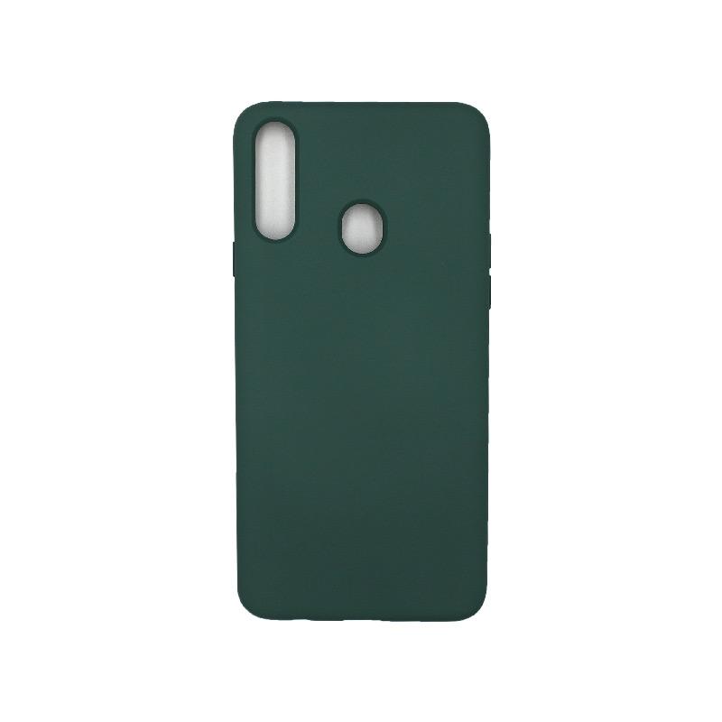 Θήκη Samsung Galaxy A21s Silky and Soft Touch Silicone πράσινο 1