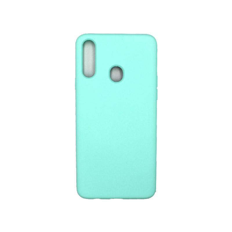Θήκη Samsung Galaxy A21s Silky and Soft Touch Silicone τρικουάζ 1