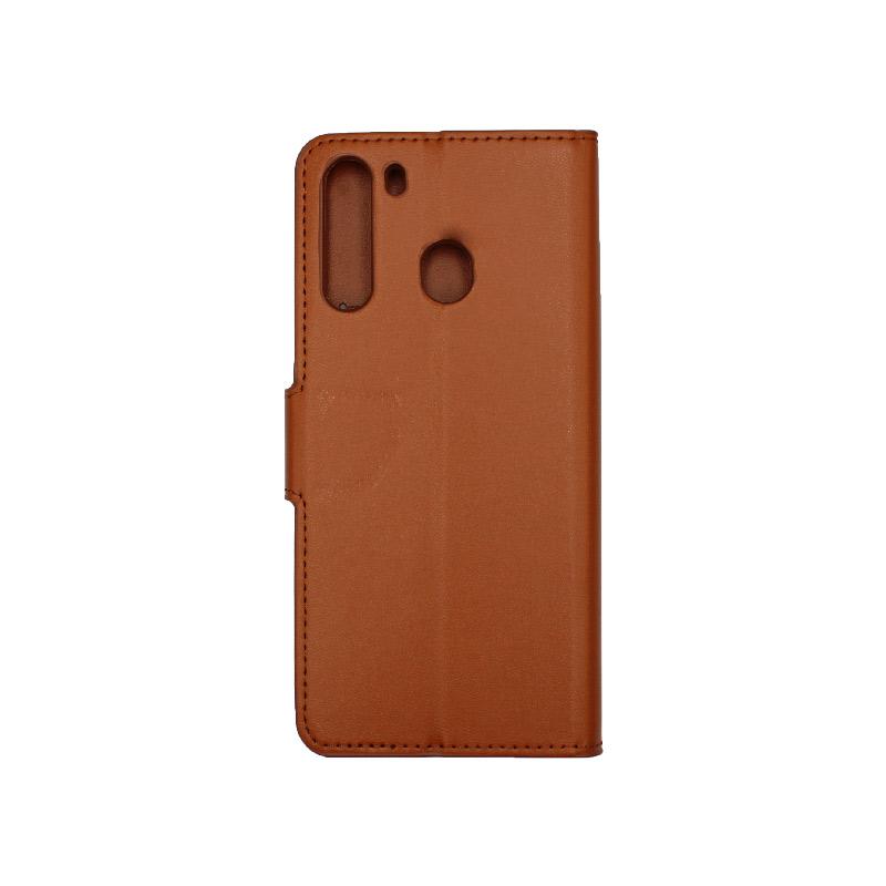 Θήκη Samsung Galaxy A21 Wallet Καφέ 2