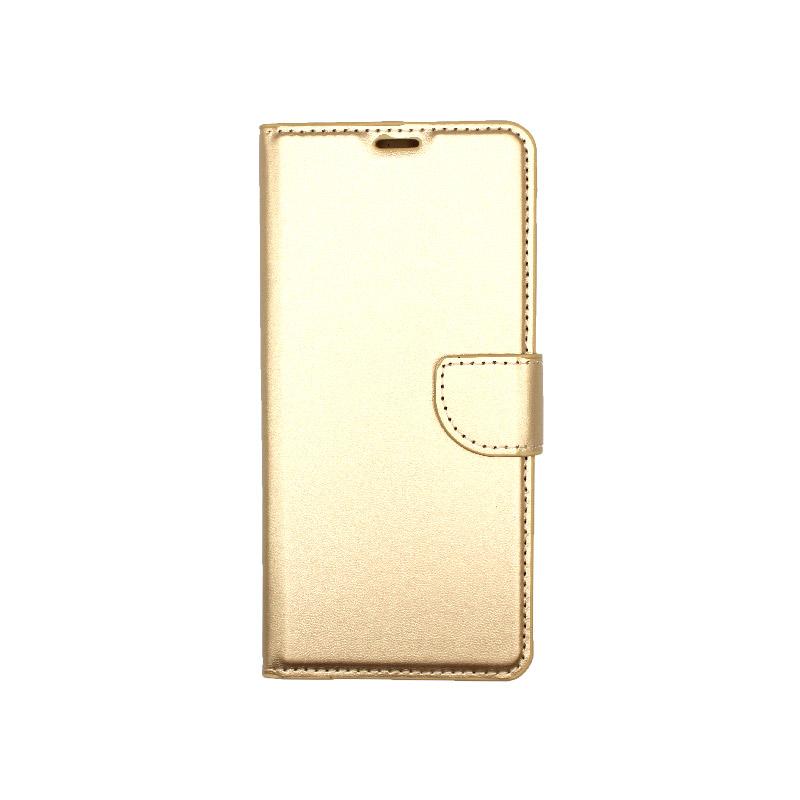 Θήκη Samsung Galaxy A21 Wallet Χρυσό 1