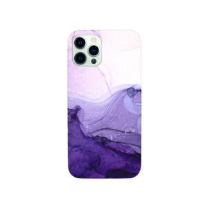 Θήκη iPhone 12 Pro Max Ombre Purple Marble