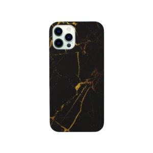 Θήκη iPhone 12 Pro Max Black-Yellow Marble