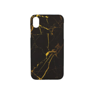 Θήκη iPhone XR Black – Yellow Marble