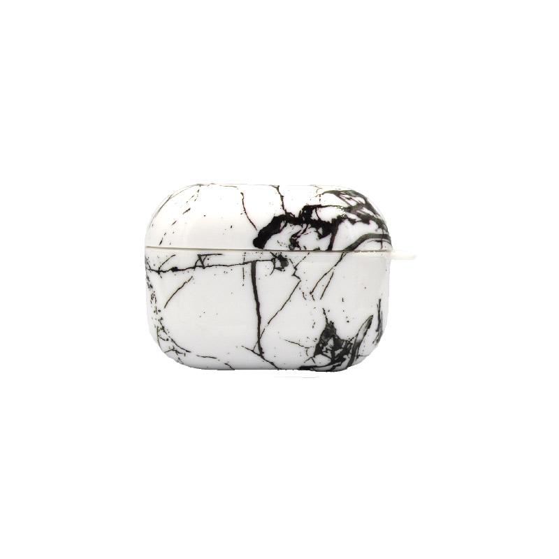 Θήκη Airpods Pro Black - White Marble - 1