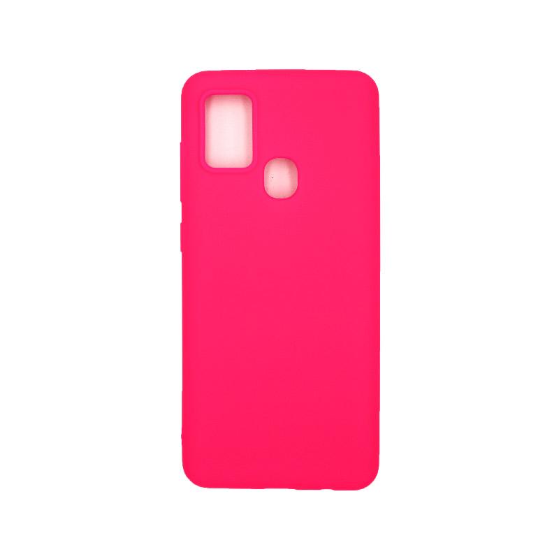 Θήκη Samsung Galaxy A21s Σιλικόνη – Φούξια