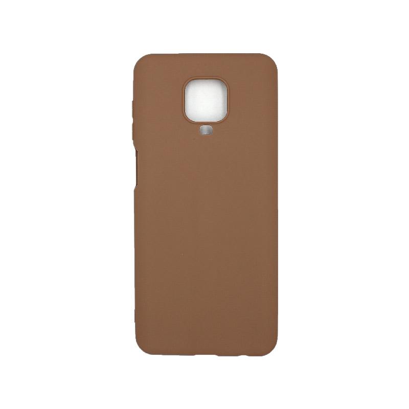 Θήκη Xiaomi Redmi Note 9S / Note 9 Pro / Note 9 Pro Max Σιλικόνη – Καφέ