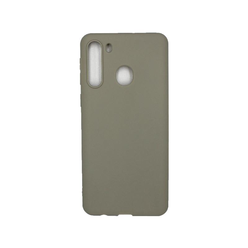 Θήκη Samsung Galaxy A21 Σιλικόνη - Γκρι