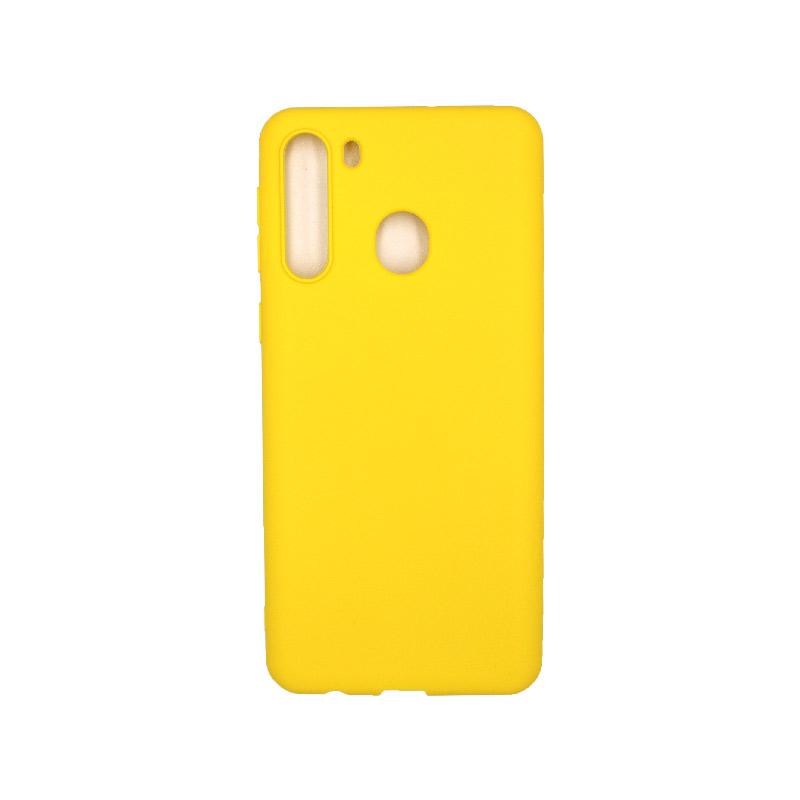 Θήκη Samsung Galaxy A21 Σιλικόνη - Κίτρινο