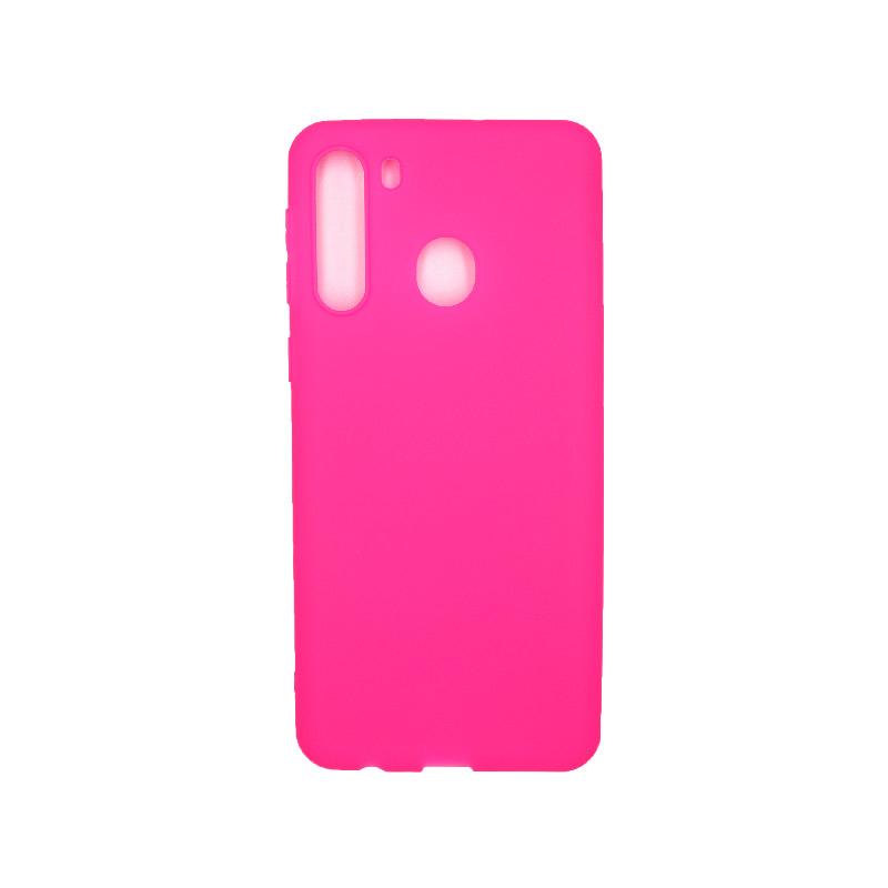 Θήκη Samsung Galaxy A21 Σιλικόνη - Φούξια
