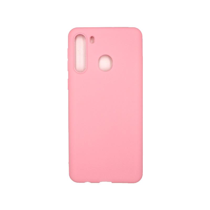 Θήκη Samsung Galaxy A21 Σιλικόνη - Ροζ