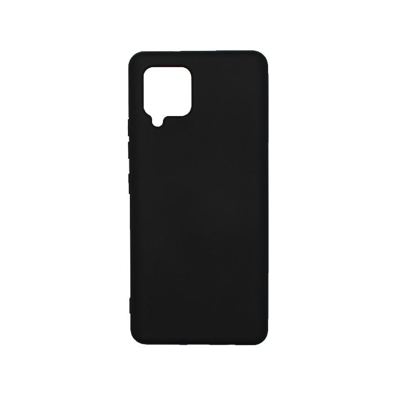 Θήκη Samsung Galaxy A42 Silky and Soft Touch Silicone - Μαύρο 1