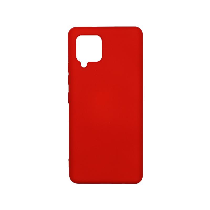 Θήκη Samsung Galaxy A42 Silky and Soft Touch Silicone - Κόκκινο 1