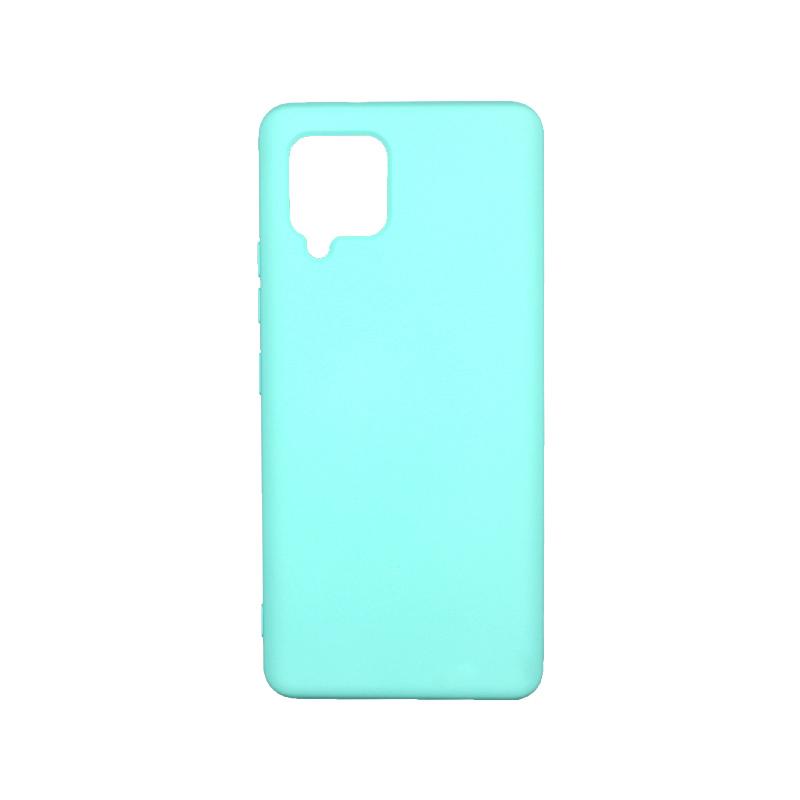Θήκη Samsung Galaxy A42 Silky and Soft Touch Silicone - Γαλάζιο 1
