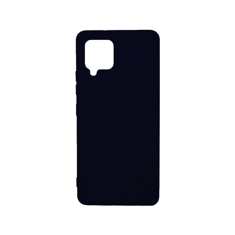 Θήκη Samsung Galaxy A42 Silky and Soft Touch Silicone - Σκούρο Μπλε 1