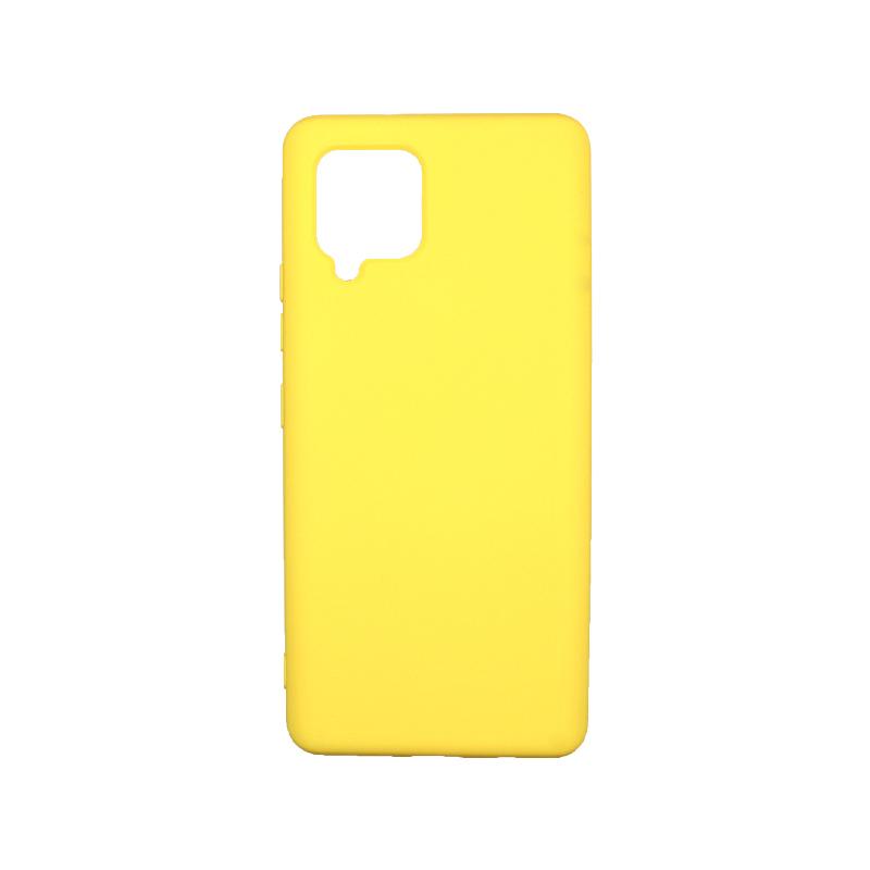 Θήκη Samsung Galaxy A42 Silky and Soft Touch Silicone - Κίτρινο 1