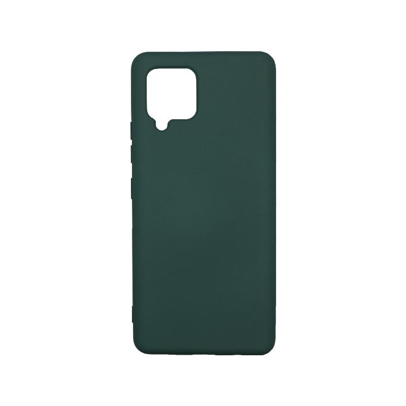 Θήκη Samsung Galaxy A42 Silky and Soft Touch Silicone - Πράσινο 1