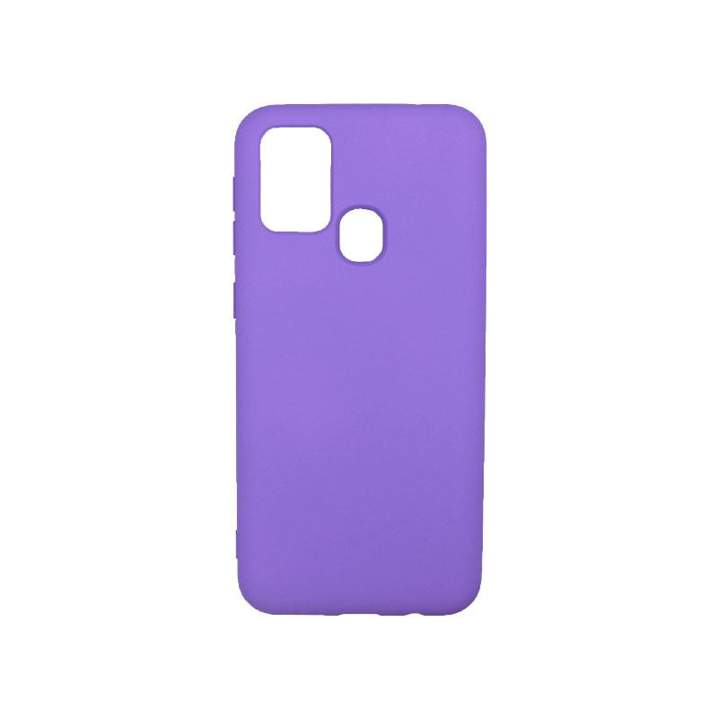 Θήκη Samsung Galaxy M31 Silky and Soft Touch Silicone μώβ-1