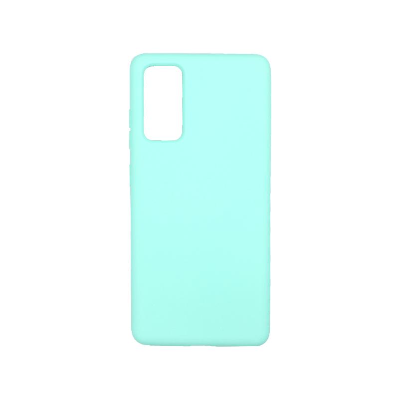 Θήκη Samsung Galaxy S20 FE Silky and Soft Touch Silicone τιρκουάζ-1