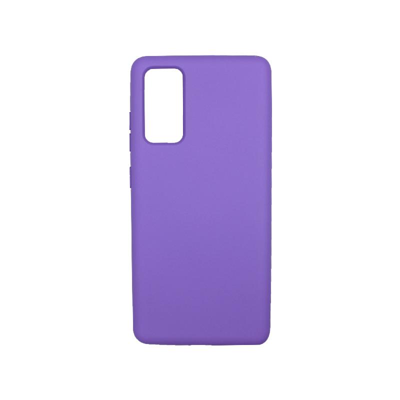 Θήκη Samsung Galaxy S20 FE Silky and Soft Touch Silicone μωβ-1