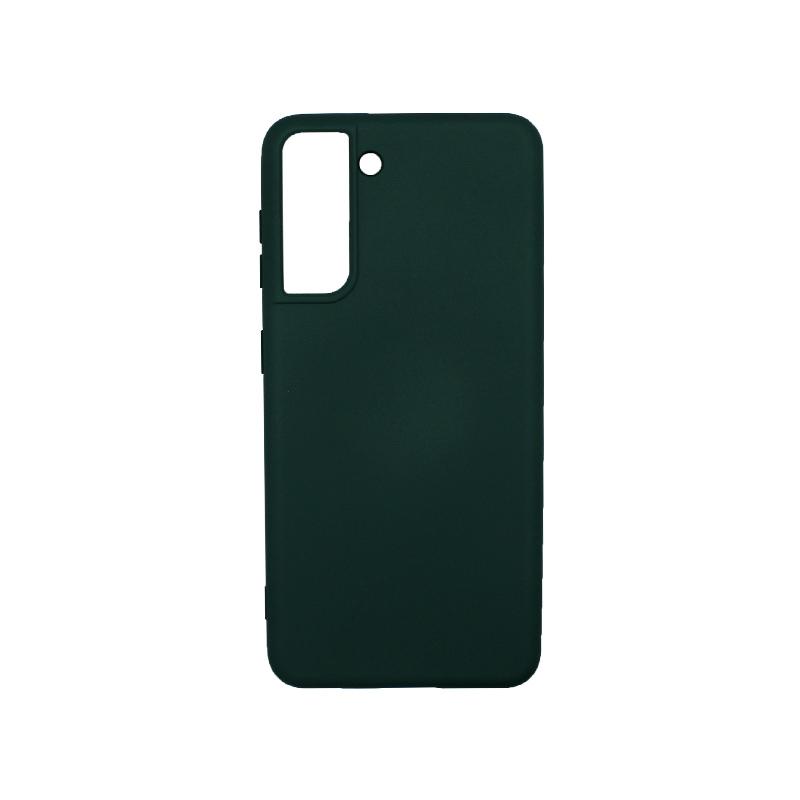Θήκη Samsung Galaxy S21 Silky and Soft Touch Silicone πράσινο-1