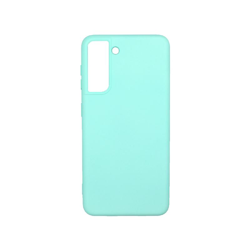 Θήκη Samsung Galaxy S21 Silky and Soft Touch Silicone τιρκουάζ-1