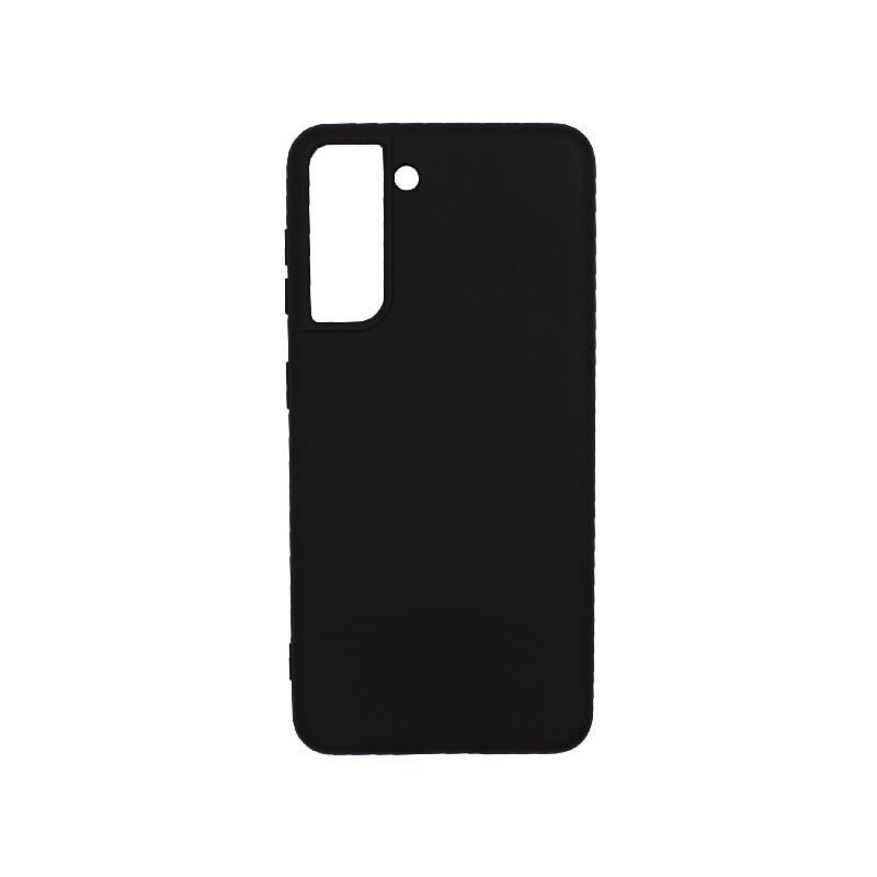 Θήκη Samsung Galaxy S21 Plus Silky and Soft Touch Silicone μαύρο-1