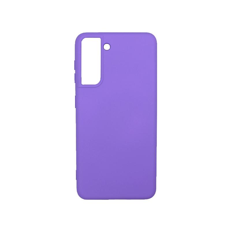 Θήκη Samsung Galaxy S21 Silky and Soft Touch Silicone λιλά-1