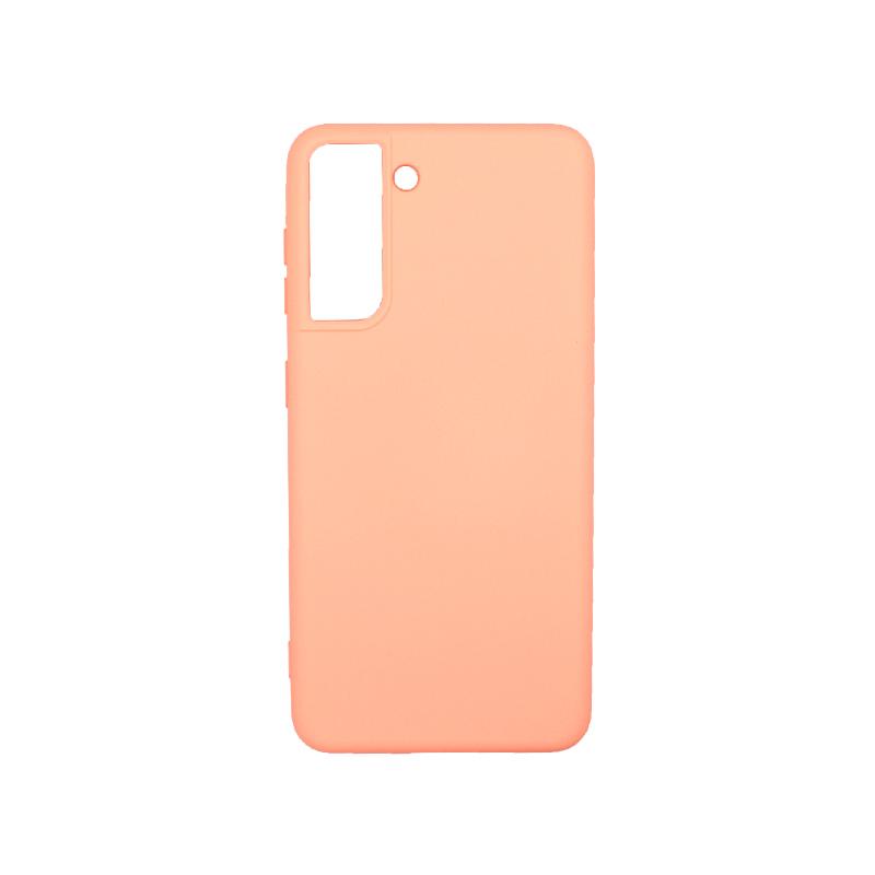 Θήκη Samsung Galaxy S21 Silky and Soft Touch Silicone πορτοκαλί-1