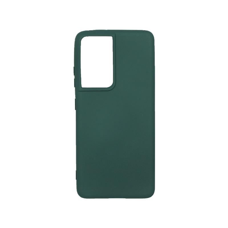 Θήκη Samsung Galaxy S21 Ultra Silky and Soft Touch Silicone πράσινο-1