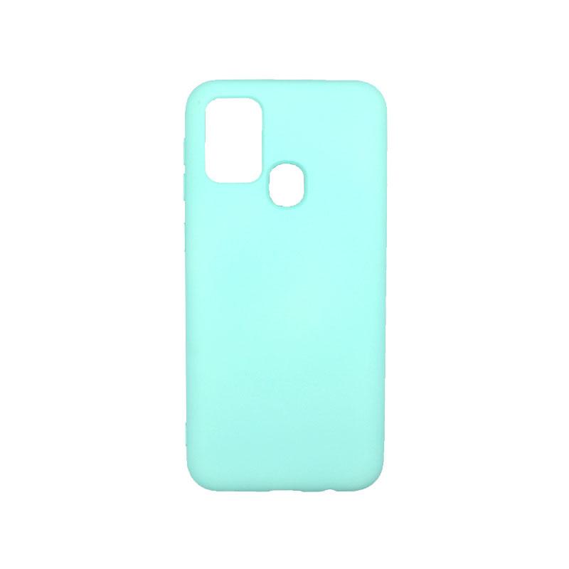 Θήκη Samsung Galaxy M31 Silky and Soft Touch Silicone τιρκουάζ-1