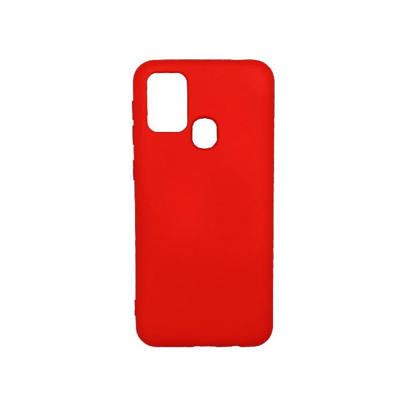 Θήκη Samsung Galaxy M31 Silky and Soft Touch Silicone κόκκινο-1