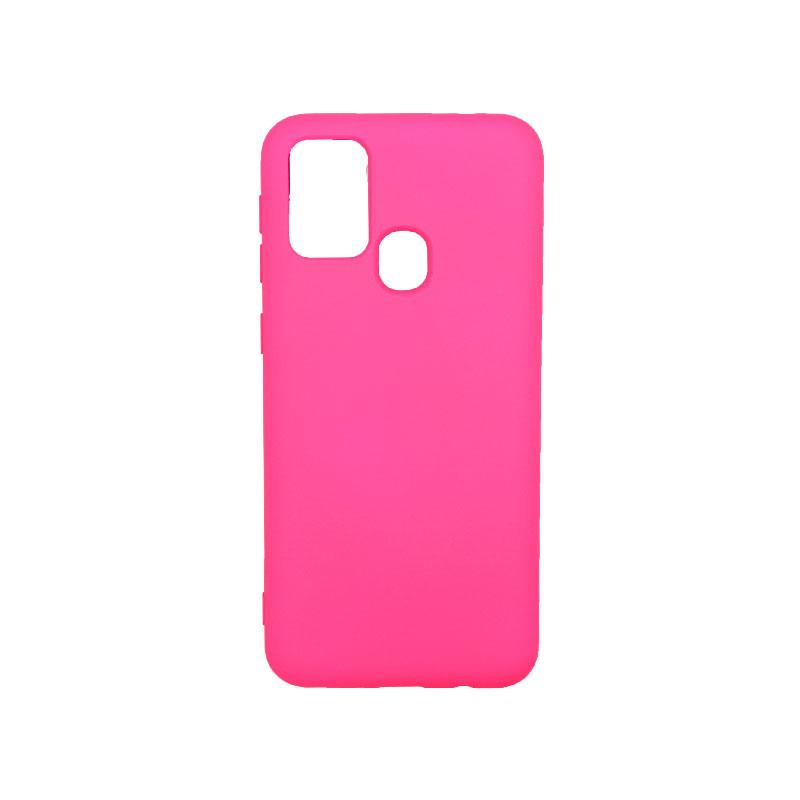 Θήκη Samsung Galaxy M31 Silky and Soft Touch Silicone φούξια-1