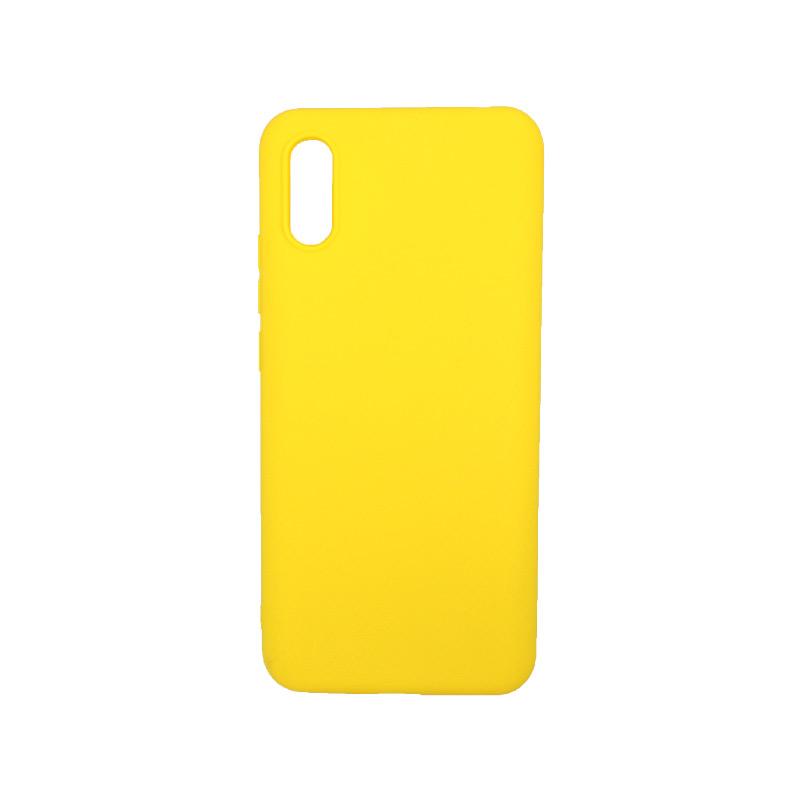 Θήκη Xiaomi Redmi 9A Σιλικόνη κίτρινο.