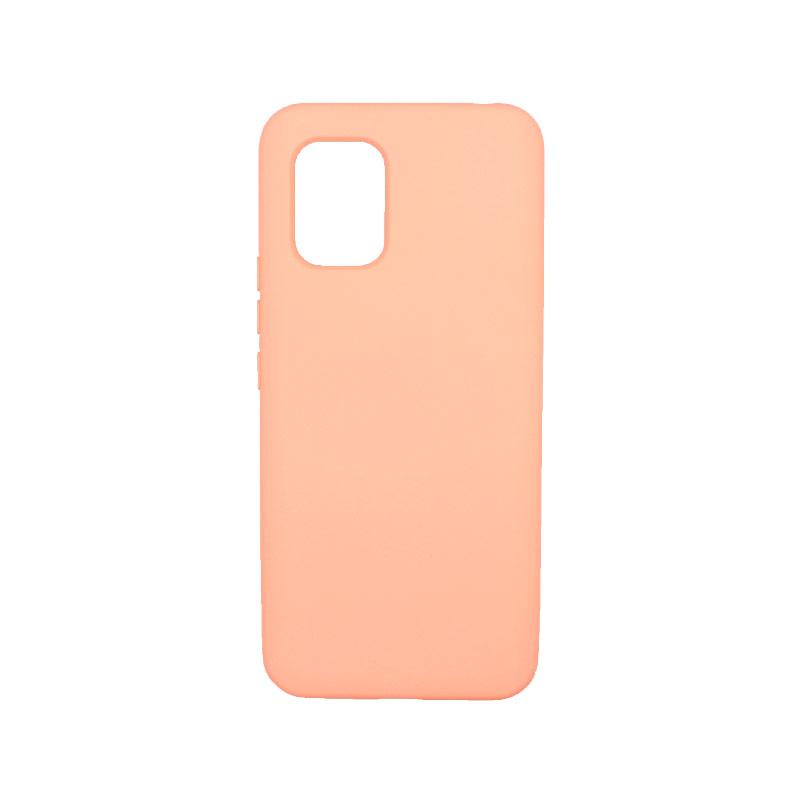 Θήκη Xiaomi Mi 10 Lite Silky and Soft Touch Silicone πορτοκαλί-1