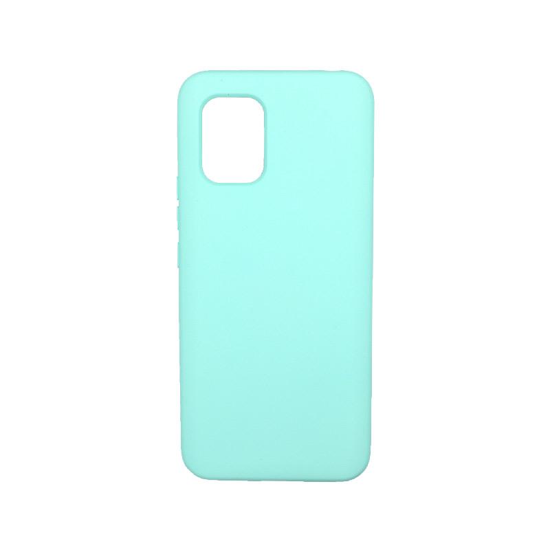 Θήκη Xiaomi Mi 10 Lite Silky and Soft Touch Silicone τιρκουάζ-1