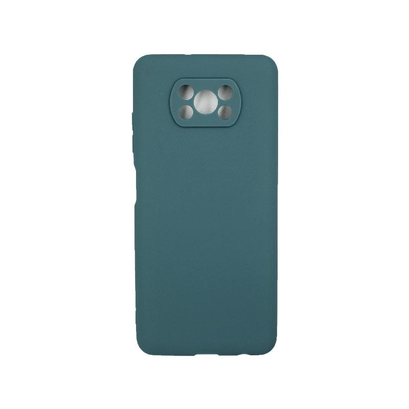 Θήκη Xiaomi Poco X3 Σιλικόνη πετρόλ