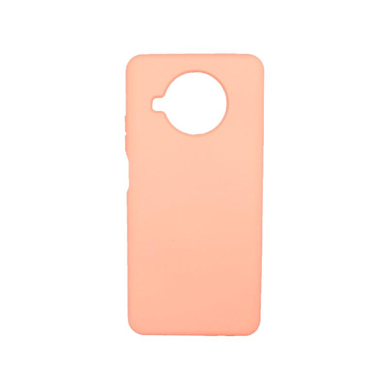 Θήκη Xiaomi Mi 10T Lite Silky and Soft Touch Silicone πορτοκαλί-1